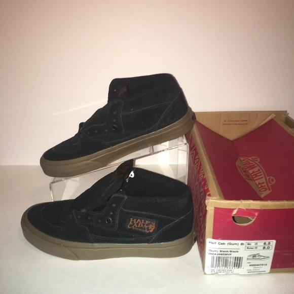 e8ab35a6524 Vans Half Cab Gum Black Shoes New
